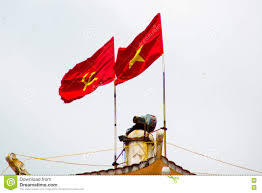 Viet Nam Flag Two Red Flag The Hammer And The Young Star Phan Thiet Vietnam