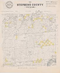Old Texas Map Map Of Stephens County Texas The Portal To Texas History