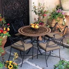 Mosaic Patio Furniture by This Iron Mosaic Patio Set Is Perfect For An Outdoor Tuscany Style