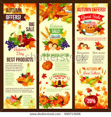 thanksgiving day autumn sale poster leaflet stock vector 719154145