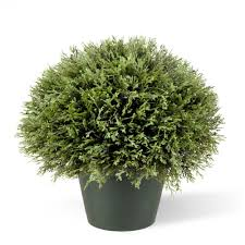 artificial foliage topiaries outdoor decor the home depot 15 in
