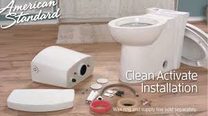 how to install a touchless touchless toilet install clean activate toilet by american