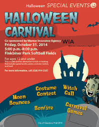 halloween carnival event calendar city of glendora