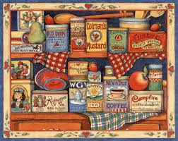 susan winget country cupboard collage illustration country