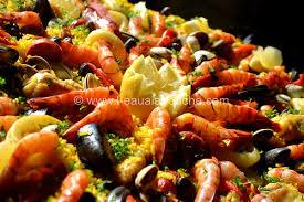 cuisiner pour 15 personnes paella mixte pour 15 à 20 personnes ingrédients 800 gr à 1 kg de