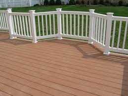 pvc deck railing with timbertech decking st louis decks ideas
