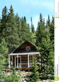 small cabin in the woods royalty free stock photos image 14984498