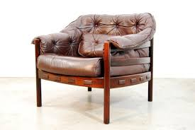 Leather Club Chair Scandinavian Leather Club Chair By Arne Norell For Coja 1960s For