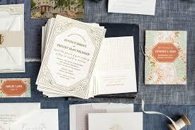 art deco wedding invitations u2014 hello tenfold wedding invitations