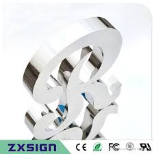 2018 factory outlet fine workmanship 304 stainless steel 3d sign