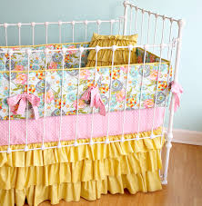 Pink And Yellow Bedding Lily Belle Yellow Baby Bedding Lottie Da Baby Baby Bedding