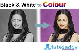 converting black white photo colour photo photoshop