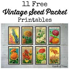 seed packets antique farmhouse seed packet prints knick of time