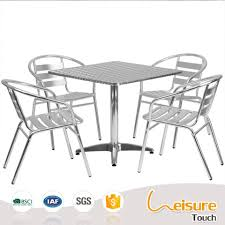 Aluminum Bistro Table And Chairs Popular Outdoor Cafe Cheap Bar Furniture Sets Aluminum Bistro