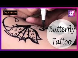 how to draw a butterfly tattoo tattoo for girls youtube