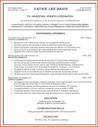 Event Planner Resume Template Event Coordinator Resume Resume Name