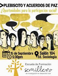 a oport de si e social escuela de formación plebiscito y acuerdos de paz oportunidades