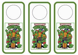 teenage mutant ninja turtles door hangers u2013 birthday printable