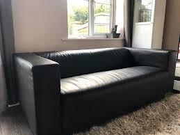 ikea klippan sofa ikea klippan two seat sofa kimstad black leather excellent