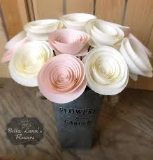 home decor flower stemmed paper flowers table centerpieces flower centerpiece