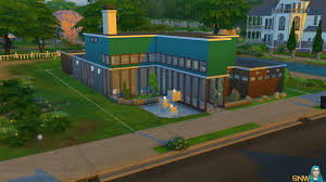 Mid Century Houses by Mid Century Modern House In The Sims 4 Snw Simsnetwork Com