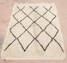 Berber Area Rug Small Beni Ourain Rug 3x5 Moroccan Rug Black And White Berber