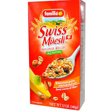 familia swiss muesli rolled whole grains with fruit and nuts