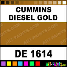 cummins diesel gold engine enamel paints de 1614 cummins
