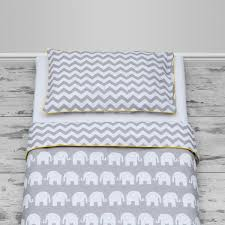 Nursery Cot Bed Sets by Grey Elephants U0026 Chevron Design With Yellow Piping Cot And Cot