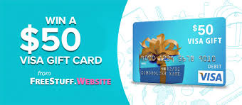 how to win gift cards win a 50 visa gift card from freestuff website members only