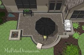 Corner Fire Pit by Corner Patio Design For 6 U0027