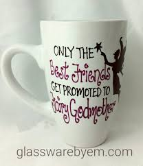 godmother mug fairy godmother mug glasswarebyem painted glasses australia