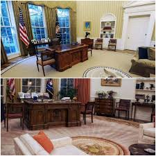 the oval office then and now see how trump changed obama u0027s white