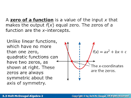 3 3 solve quadratic equations by graphing u0026 by factoring ppt