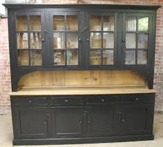 Black China Cabinet Hutch by Rustic Hutches