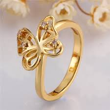 gold ring design for wholesale alibaba new design finger butterfly gold ring designs