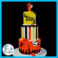 halloween 1st birthday cake blue sheep bake shop