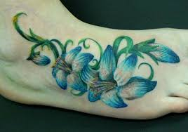 30 spectacular flower tattoos on foot creativefan