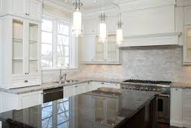 contemporary backsplash ideas for a white kitchen style with