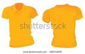 vector illustration blank orange female polo stock vector