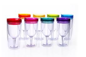 best plastic wine glasses on amazon stemless stackable