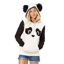 panda sweater hoodie sweatshirt jumper sweater hooded pullover coat tops