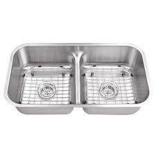low divide stainless steel sink du55l 3218 18bs designer undermount 32 50 50 low divider double