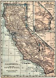 Vintage Maps Vintage California Map California Map