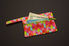 gift card wallet card wallet zipper pouch rhombus shapes with bright green i
