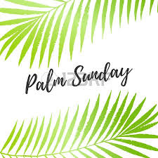 palm branches for palm sunday palm sunday card poster with palm leaves border frame