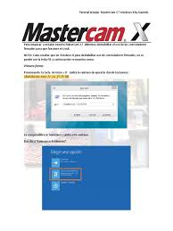 mastercam 8 manual instalacion mastercam x6 x7 win7