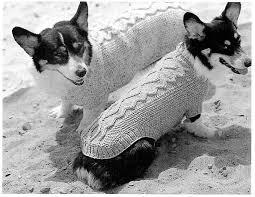 crochet pattern for dog coat classic aran dog sweater knitting strik og sy til hund pinterest