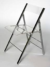 amazon com clarity acrylic folding chairs set of 2 kitchen