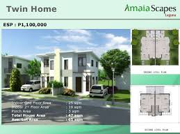 Twin Home Floor Plans Amaia Scapes Laguna